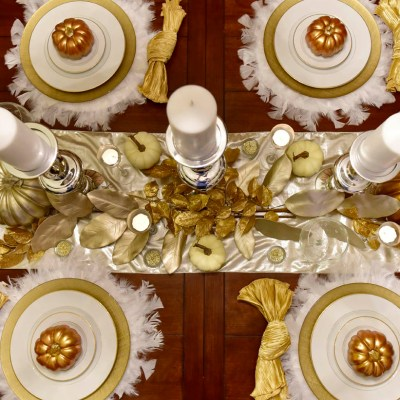 Hello Fall!  2015 Thanksgiving Tablescape