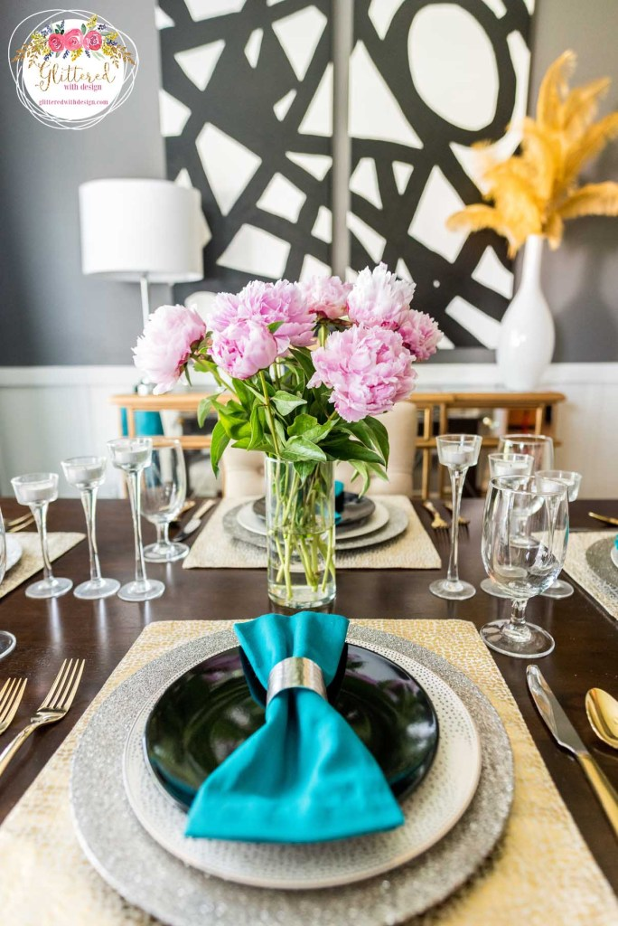 Breakfast Room Tablescape - Glittered with Design