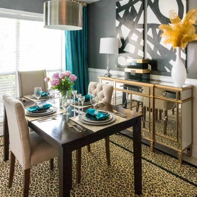 Peonies – Oh, how I love thee! Mini Breakfast Room Table Makeover