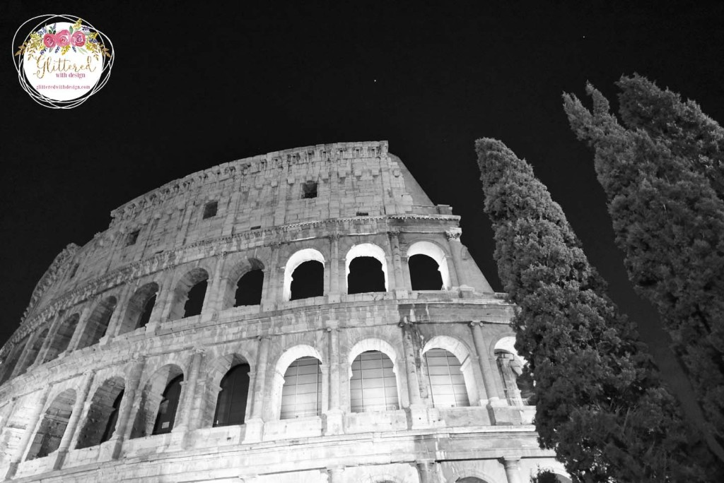 colisseum at night Vatican inside - Glittered with Design Blog - #glitteredwithdesign