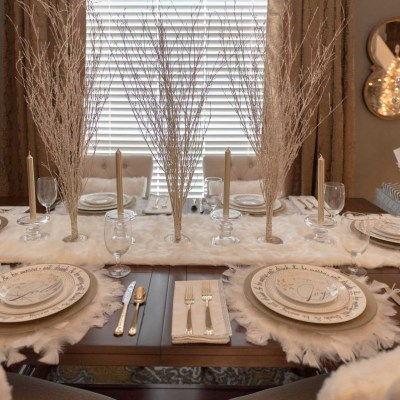 Christmas 2016: Dining Room Tablescape
