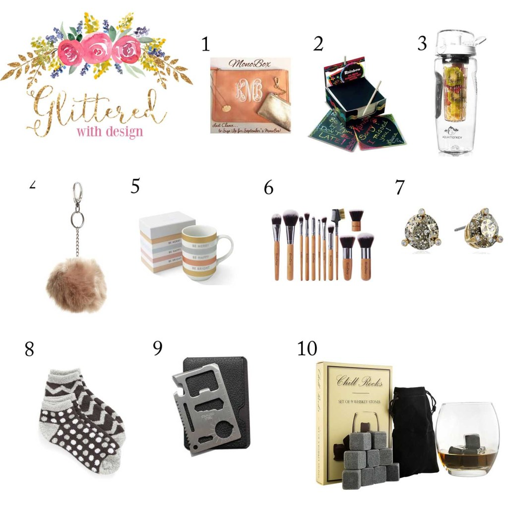 Holiday Gift Guide: Stocking Stuffers - Glittered with Design Blog