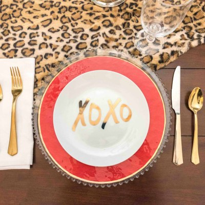 Valentine's Day Tablescape 2017