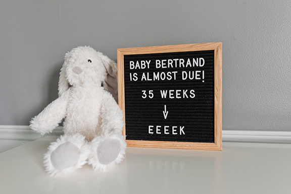 Bumpdate: Week 35 – Five Weeks Until Due Date!