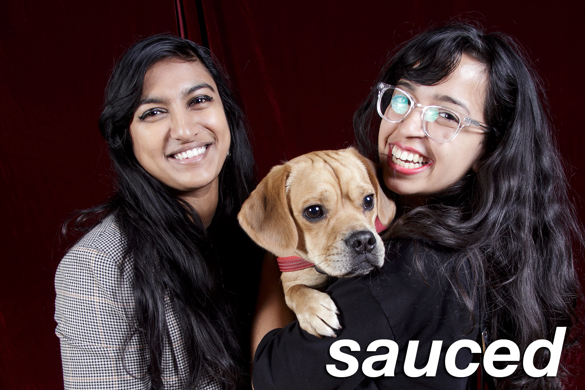 glitterguts portrait booth photos from sauced market in chicago, december 2018