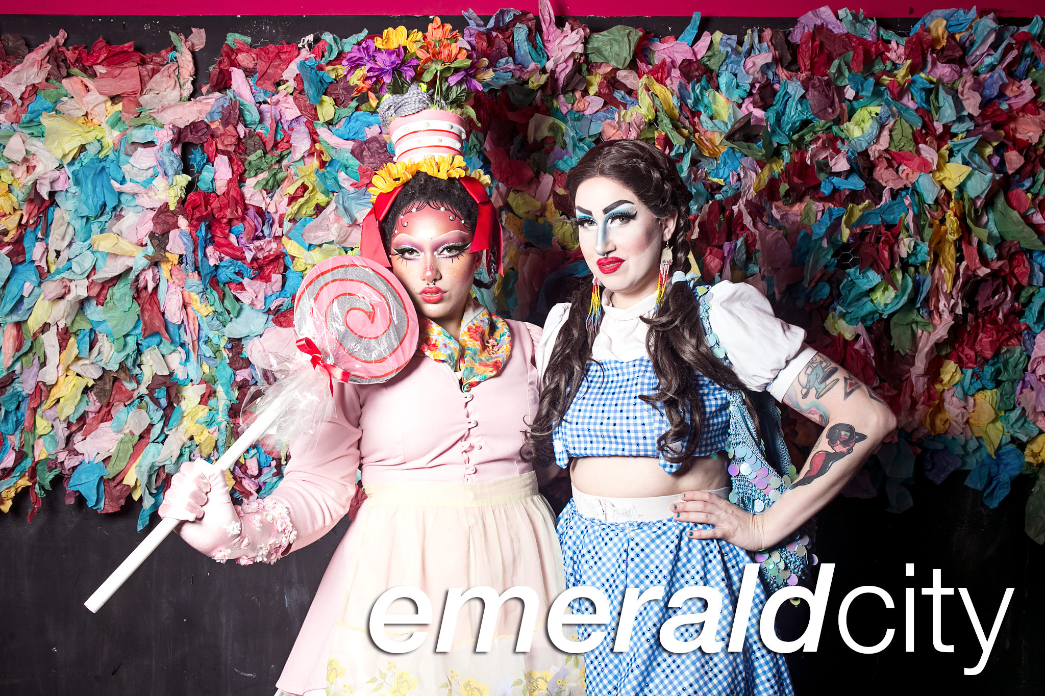 glitterguts portrait booth photos from emerald city pride afterparty at annoyance theater, chicago 2019