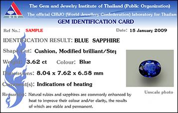 Thailand Gemmological Institute Lab Report