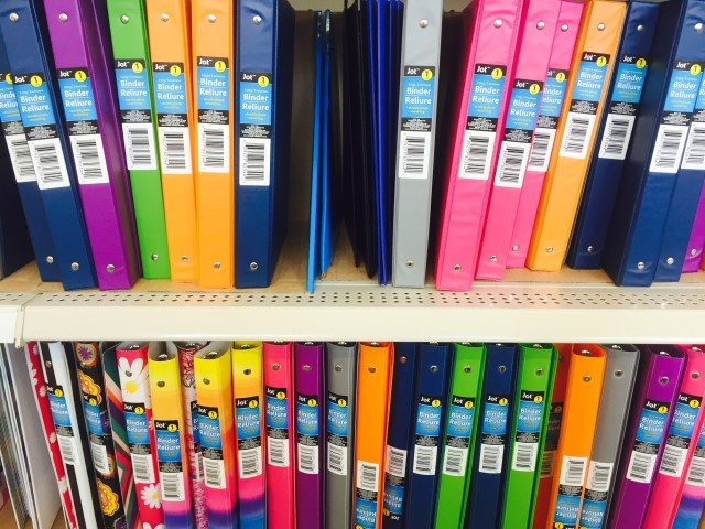 School Supplies at Dollar Tree