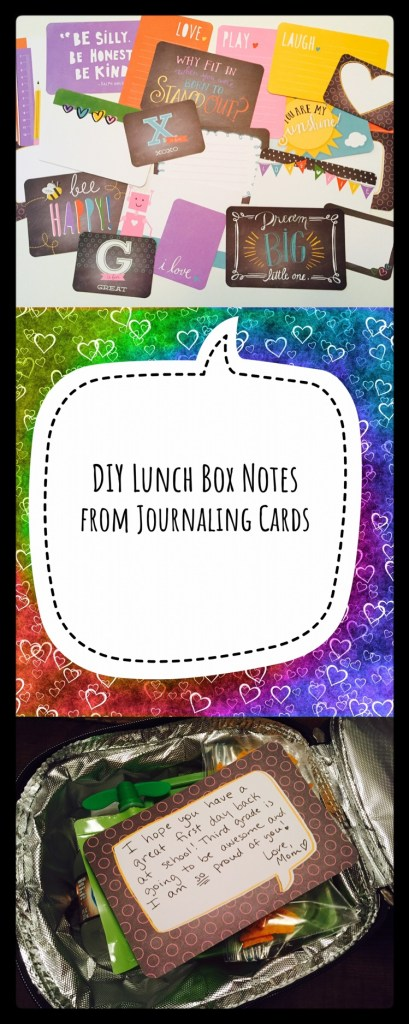Lunch Box notes from Project Life or Pocket Scrapbooking Cards