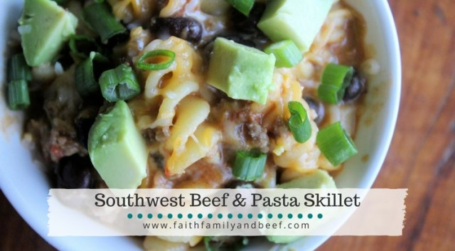 Southwest Beef Pasta Skillet is a great weeknight dinner!