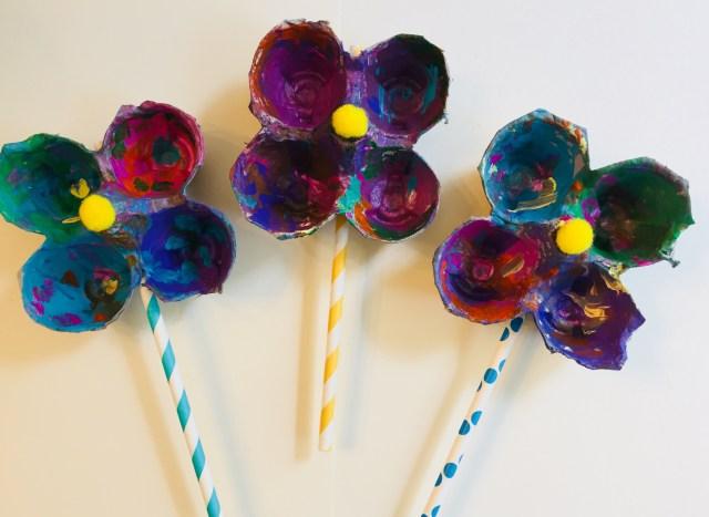 Egg Carton Flowers - Great Spring Craft