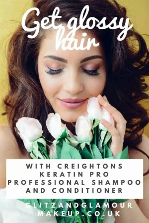 get glossy hair with creightons keratin pro professional shampoo and conditioner