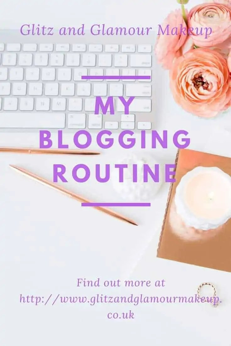 blogging daily routine schedule