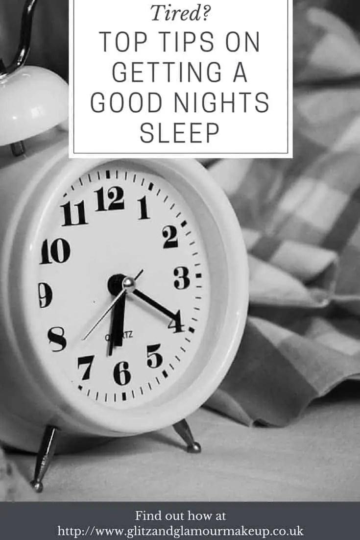 tips on getting a good nights sleep