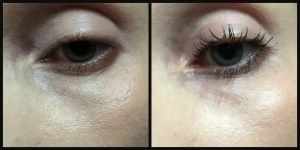 Before and after Tanya Burr selfie lash msacara