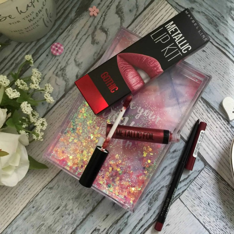 Get perfect lips for Christmas with Maybelline Metallic foil lip kit in Scorpion