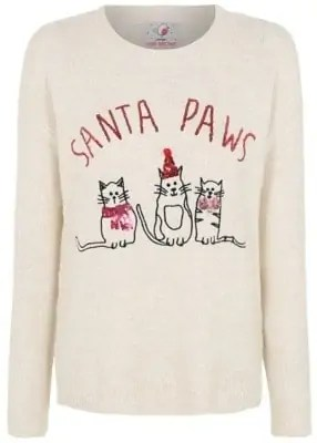some of the best christmas jumpers for the festive season santa paws jumper