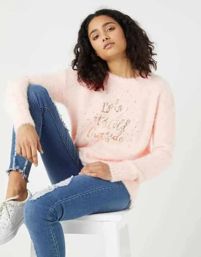 some of the best christmas jumpers for the festive season sunshine soul baby its cold outside jumper