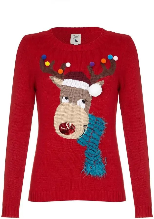 some of the best christmas jumpers for the festive season yumi rudolf jumper