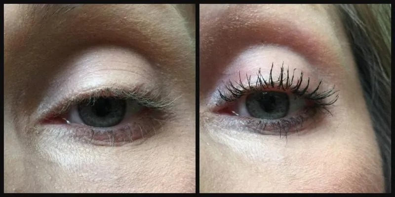 Get dramatic lashs with Essence Lash Princess mascara before and after