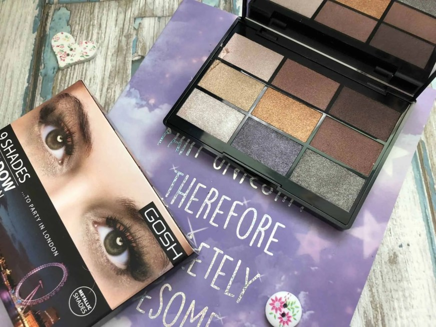Gosh To Party In London eyeshadow palette review 1