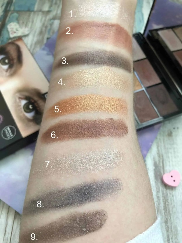 Gosh To Party In London eyeshadow palette review swatch