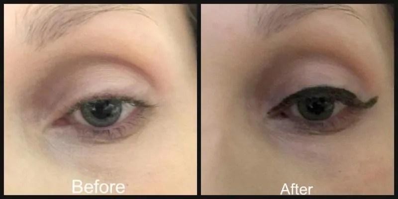 before and after rimmel wonder wing eyeliner