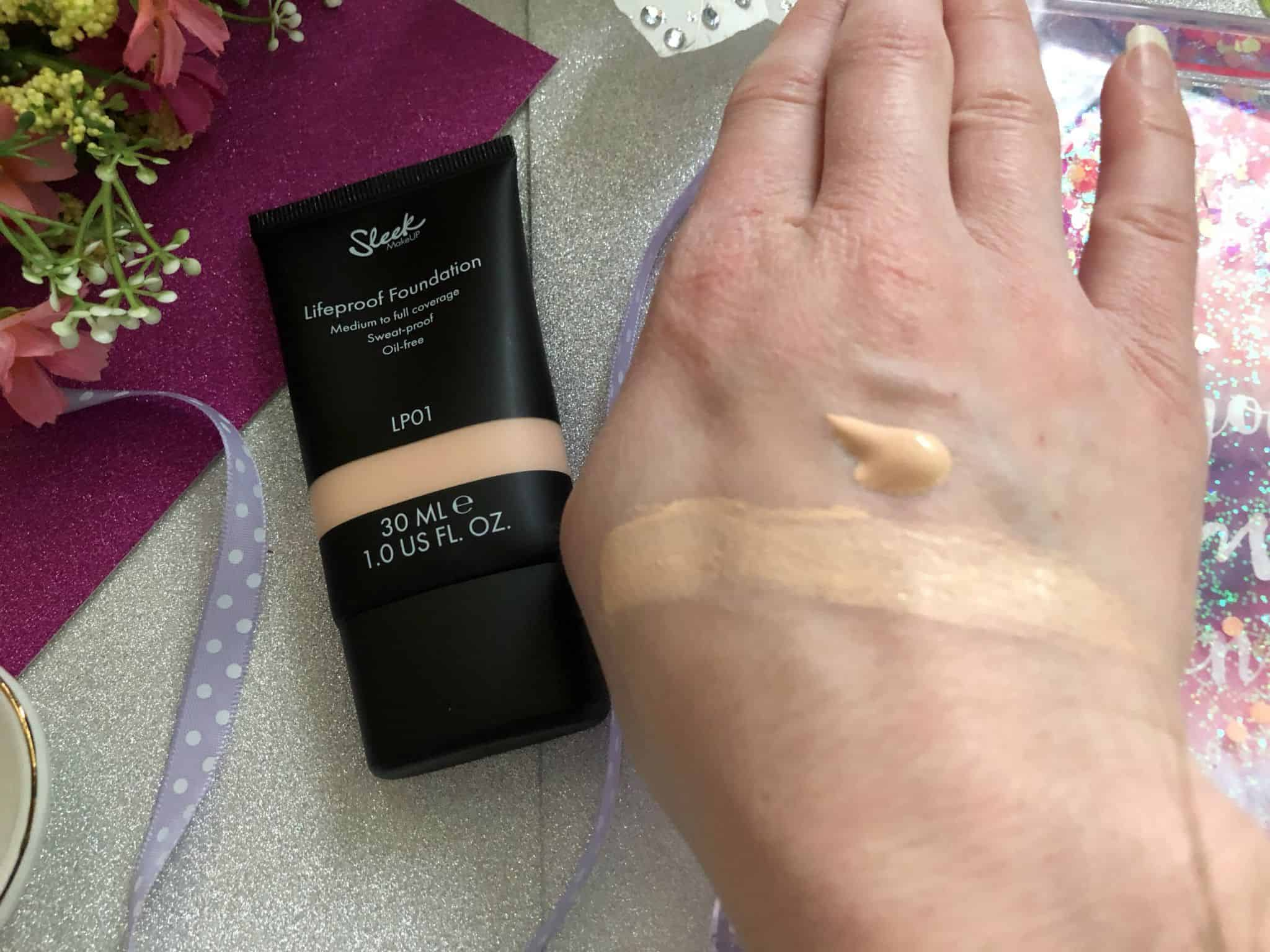 sleek lifeproof foundation swatch