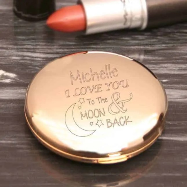 the ultimate valentines day 2018 beauty gift guide moon and back personalised compact mirror