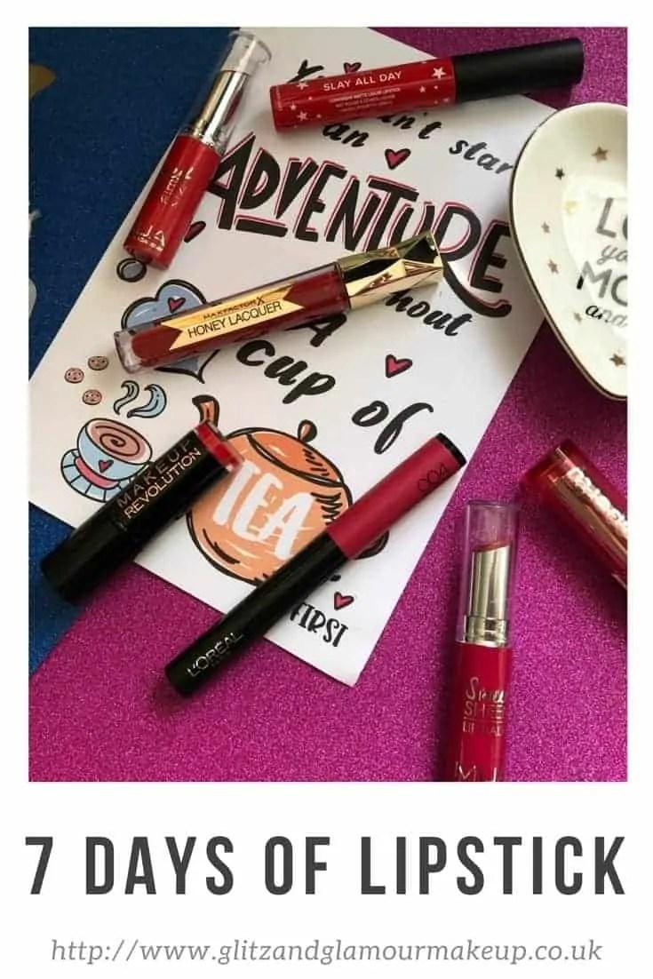 7 days of lipstick
