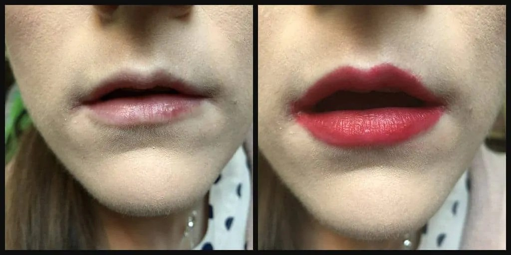 7 days of lipstick makeup revolution in dare before and after
