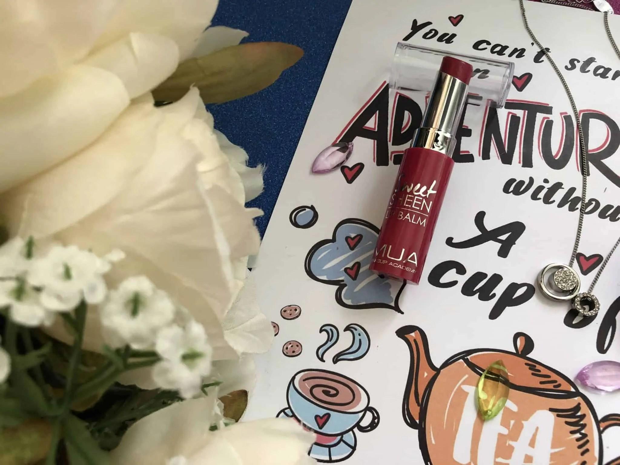 7 days of lipstick mua sweet sheen lip balm cherry bomb