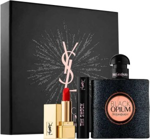 mothers day gift ideas jewellery and beauty yves saint laurent black opium beauty gift set