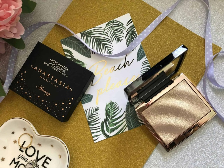 anastasia beverly hills amrezy highlighter review CHAMPAGNE GOLD