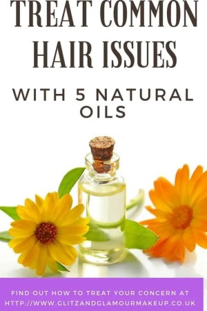 treat common hair issues with 5 natural oils