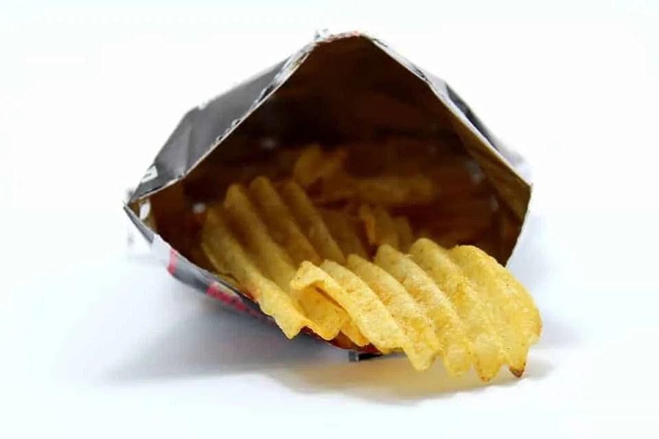 what foods can cause spots crisps