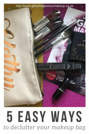 declutter your makeup bag tips