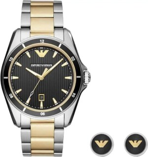 fathers day 2018 gift list emporio armani two tone sport watch and cuff links