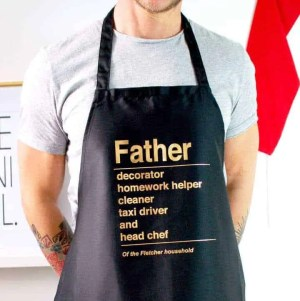 father's day 2018 gift list made with love personalised apron