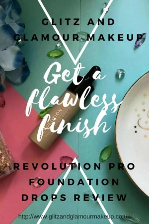get a flawless finish revolution pro foundation drops review