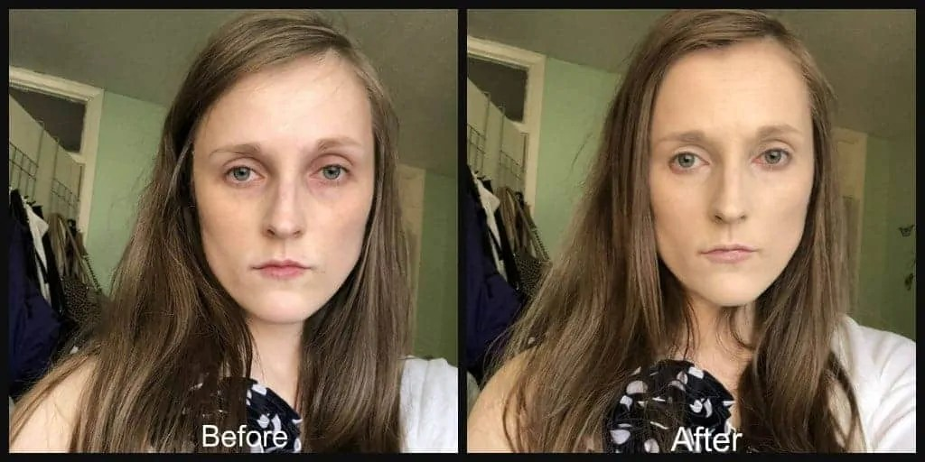 revolution pro foundation drops before and after