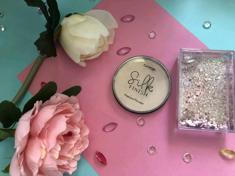 everyday summer makeup routine george silk finish pressed powder light