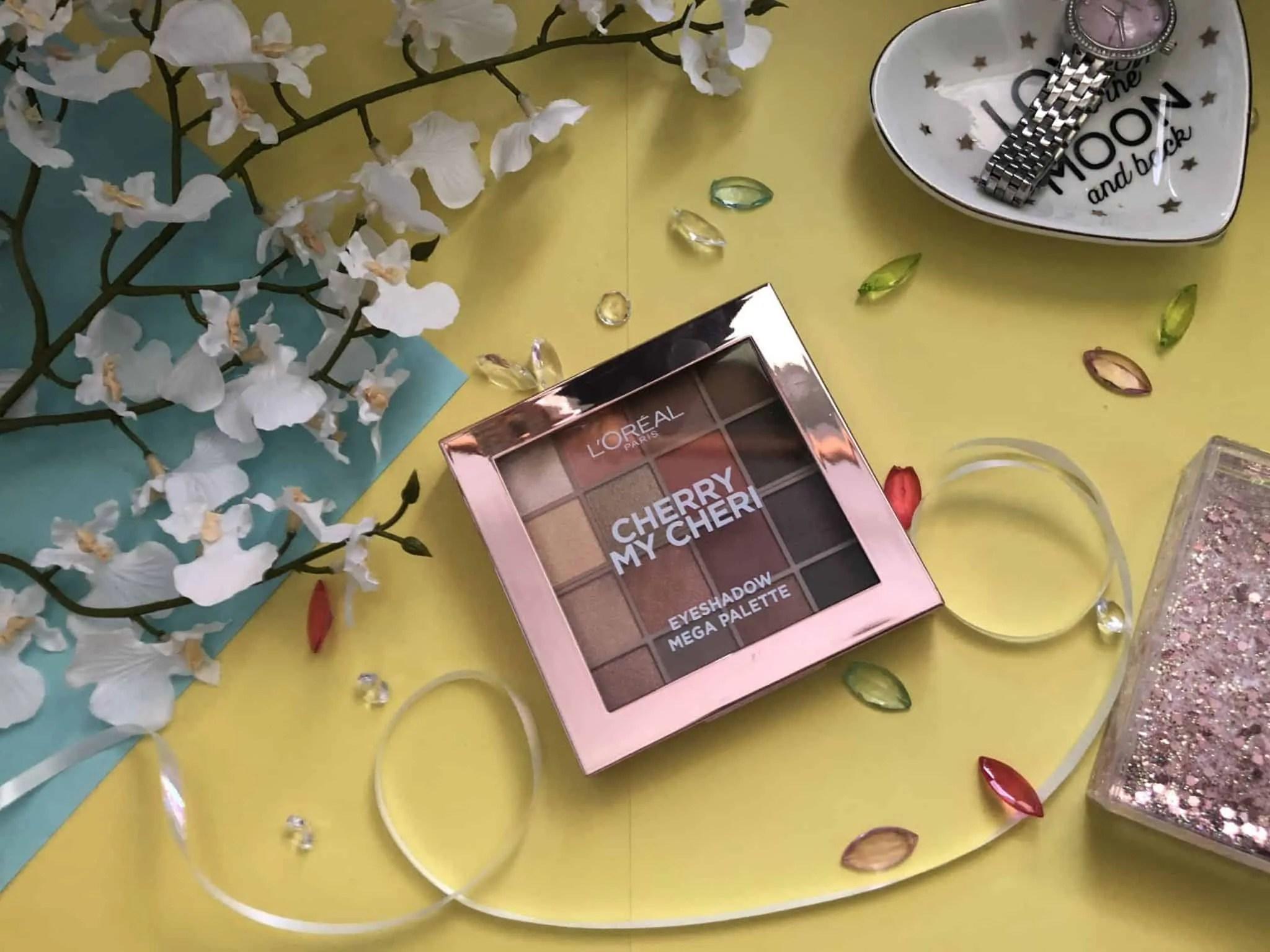loreal cherry my cheri eyeshadow palette review