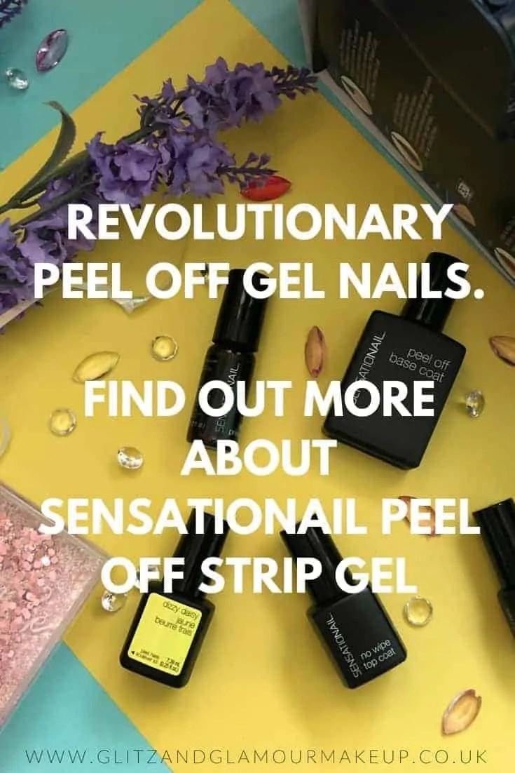 sensationail strip gel peel off gel nail kit polish review