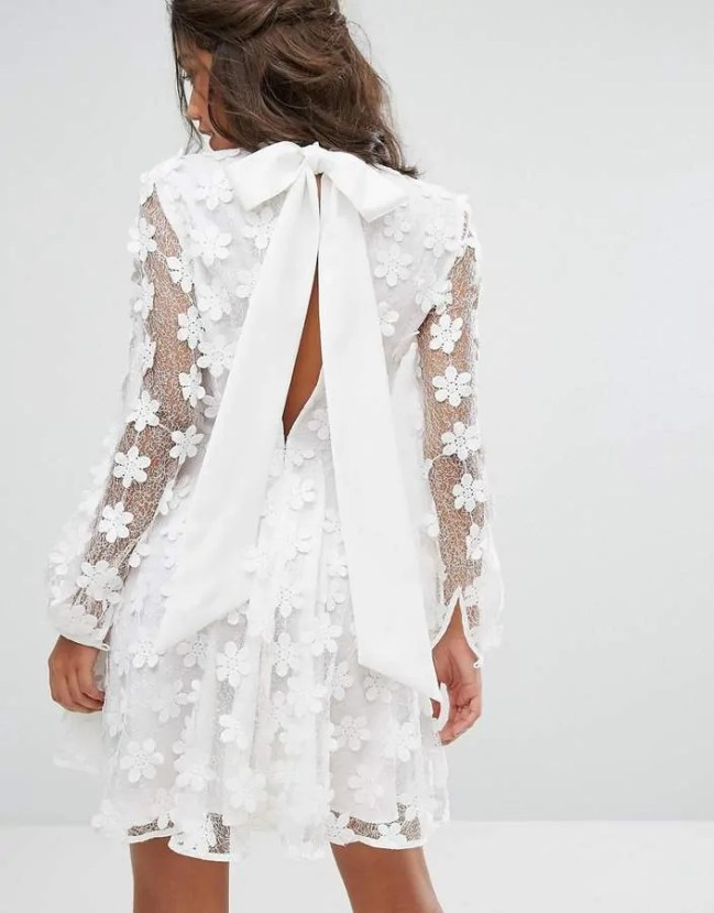 the best floaty dresses for summer stevie may bow key hole back dress