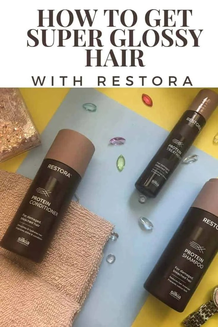 how to get super glossy hair with restora
