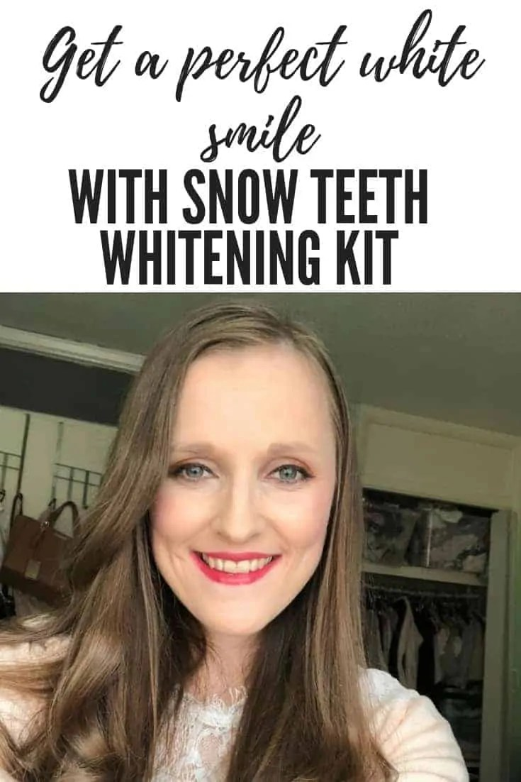 Get a perfect white smile with snow teeth whitening kit