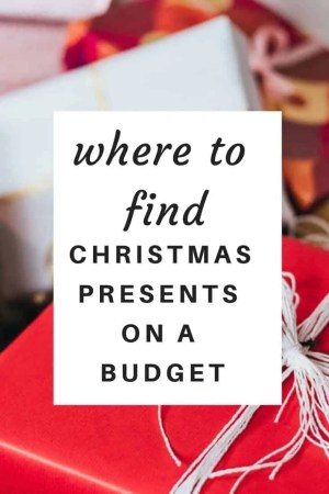 where to find christmas presents on a budget