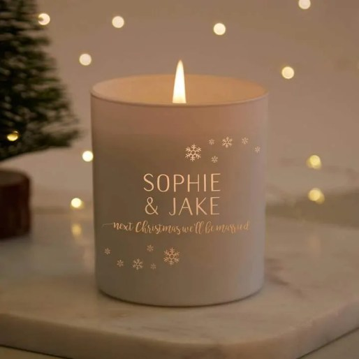 the best winter scented candles to give your home a cosy feel norma an dorothy fiancee personalised candle
