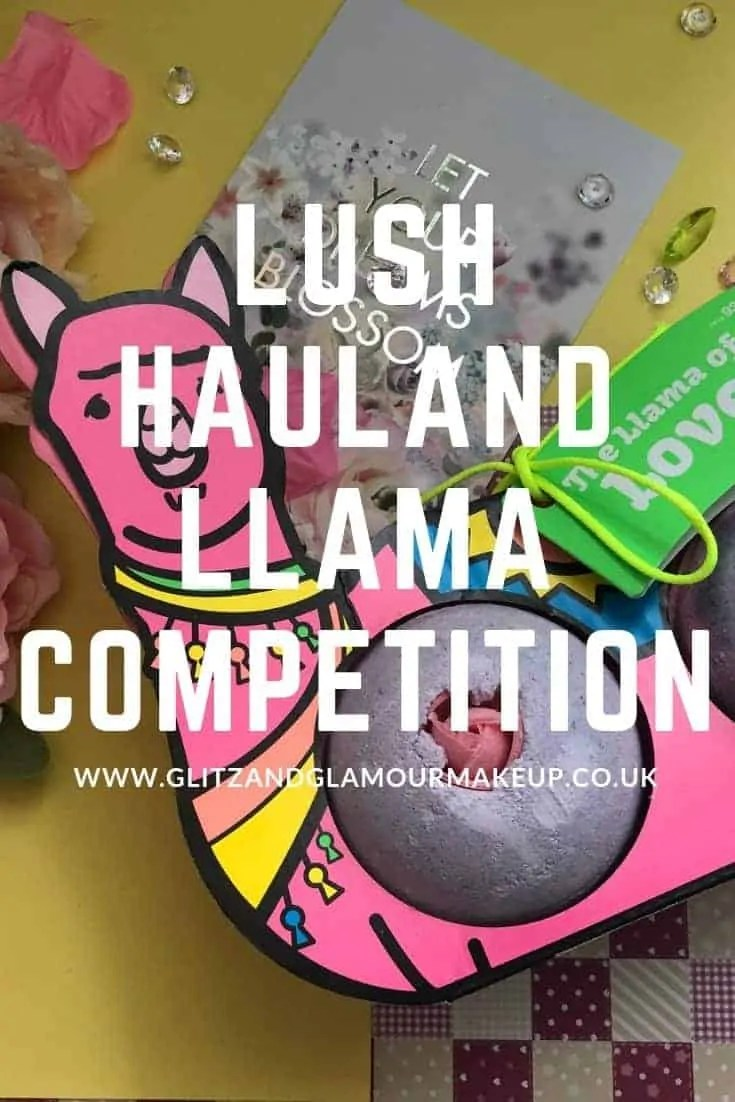 lush haul and llama bath bombs competition